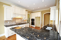 Black Granite kitchen white cabinets - Phoenix Arizona Affordable Granite Phoenix