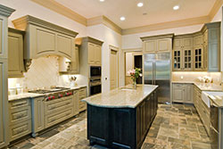 Granite kitchen green cabinets - Phoenix Arizona Affordable Granite Phoenix