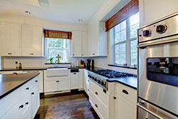 black granite white cabinets Granite kitchen - Phoenix Arizona Affordable Granite Phoenix